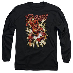 Jla Flash Glow Adult Long Sleeve T-Shirt