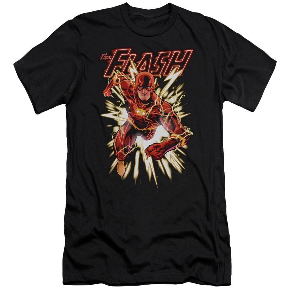 Jla Flash Glow Adult Slim Fit T-Shirt