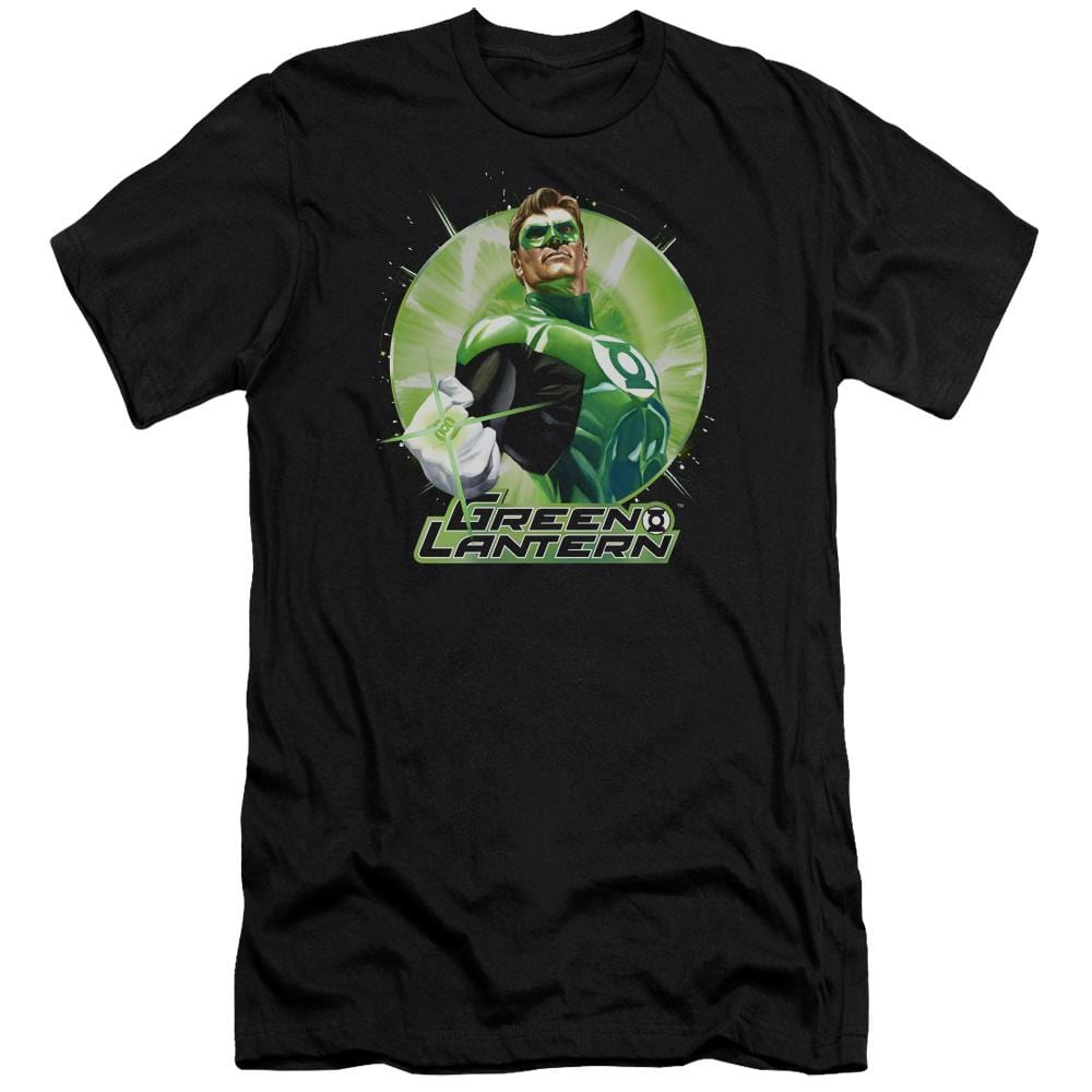 Jla Green Static Premium Adult Slim Fit T-Shirt