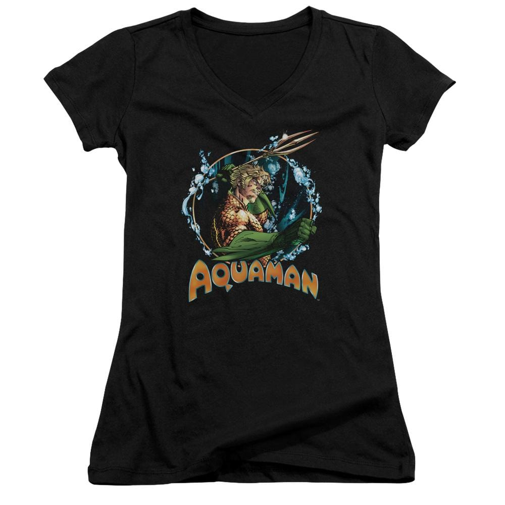 Jla Ruler Of The Seas Junior V-Neck T-Shirt