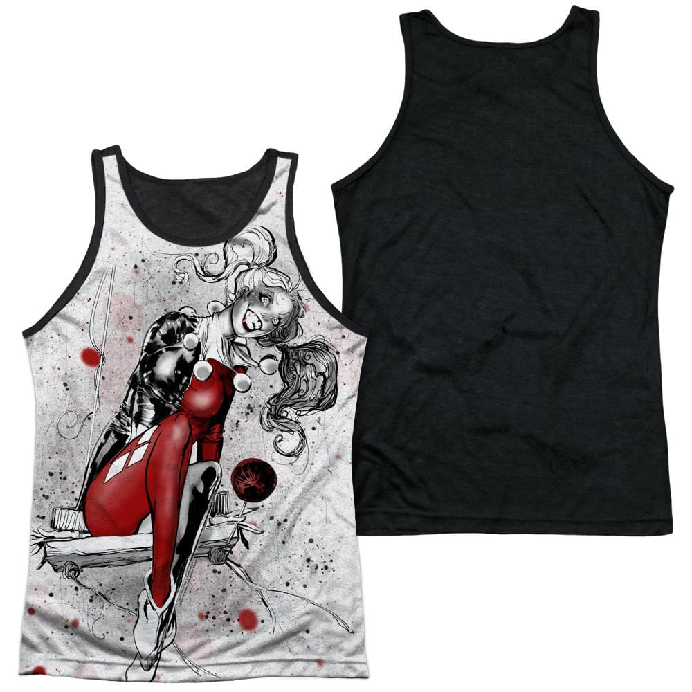 Justice League - Harley Sketch Sub Adult Tank Top