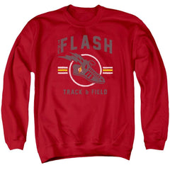 Jla - Track And Field Adult Crewneck Sweatshirt