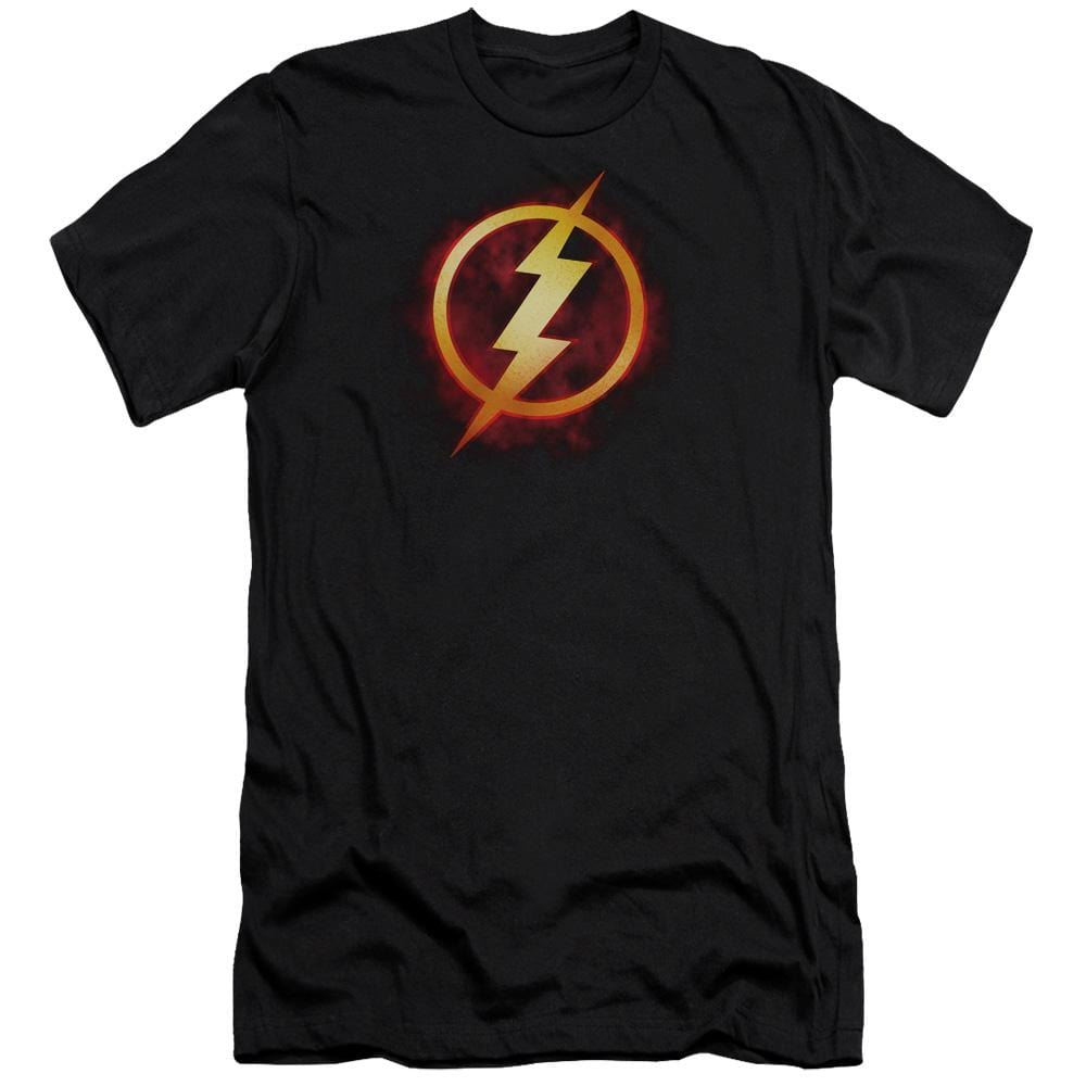Jla Flash Title Premium Adult Slim Fit T-Shirt