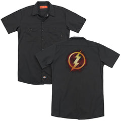 Jla - Flash Title Adult Work Shirt