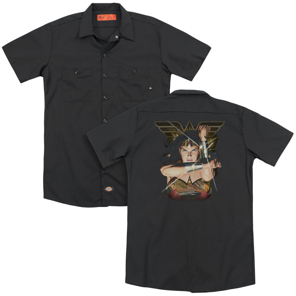 Jla - Deflection Adult Work Shirt