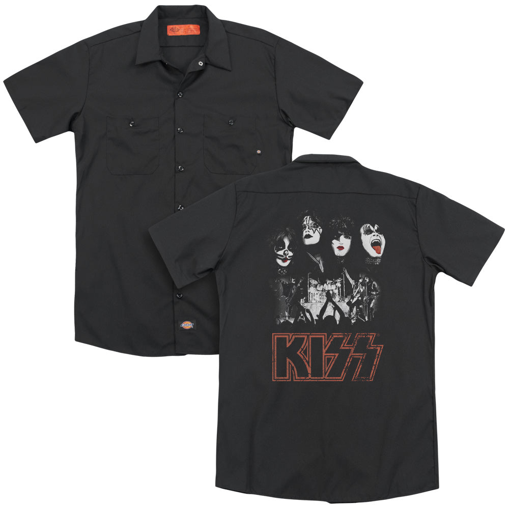 Kiss Rock The House Adult Work Shirt