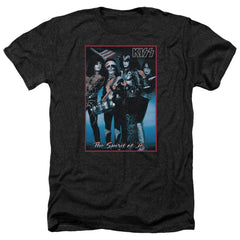 Kiss Spirit Of 76 Adult Regular Fit Heather T-Shirt