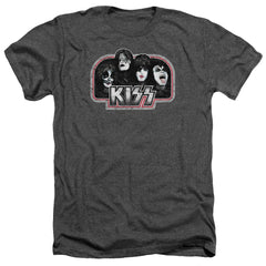 Kiss Throwback Adult Regular Fit Heather T-Shirt