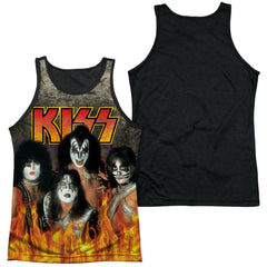 Kiss - Through The Fire Adult Tank Top
