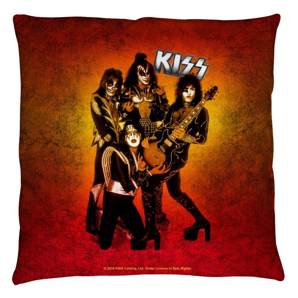 Kiss - Fire Pose Throw Pillow