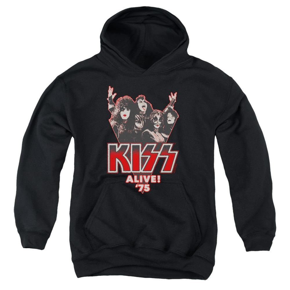 Kiss Alive 75 Youth Hoodie (Ages 8-12)