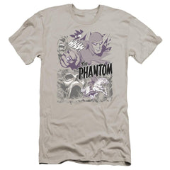 Phantom Ghostly Collage Premium Adult Slim Fit T-Shirt