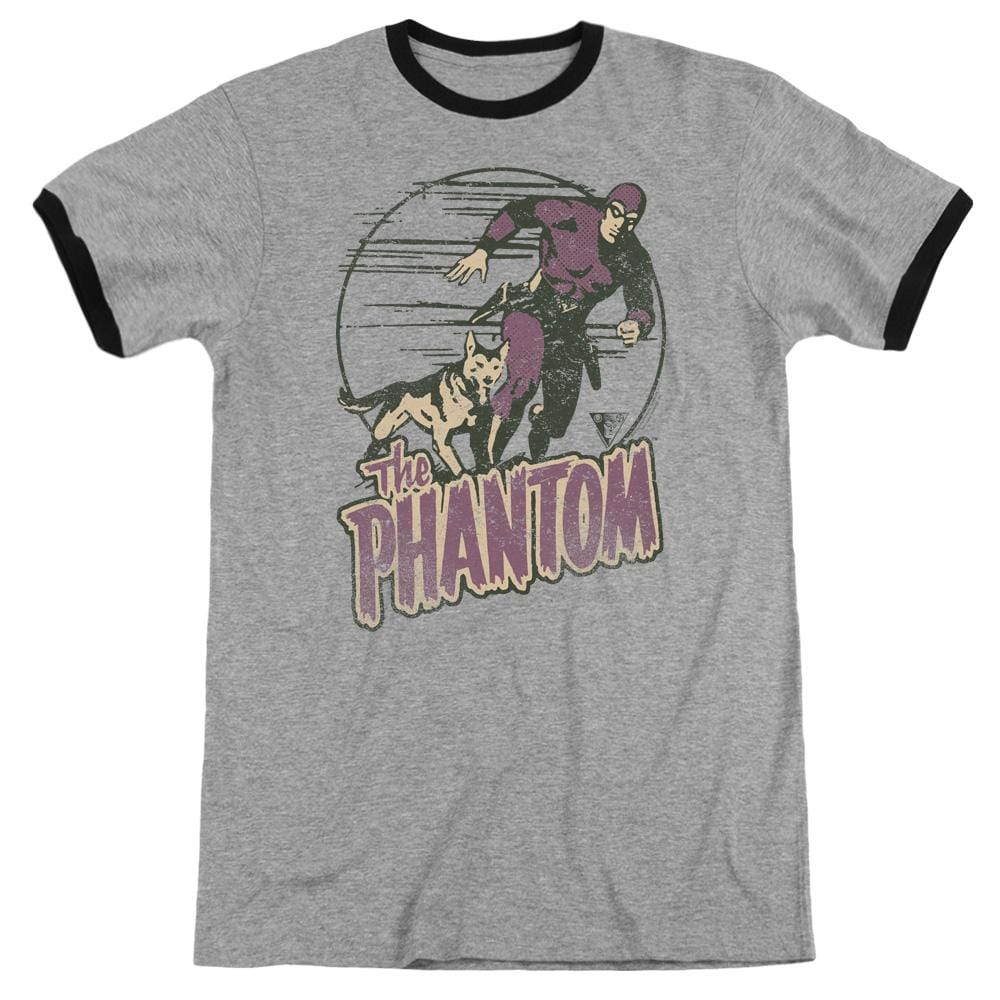Phantom - Phantom And Dog Adult Ringer T- Shirt