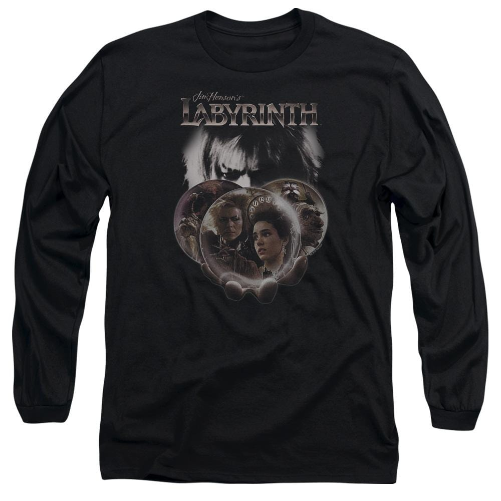 Labyrinth - Globes Adult Long Sleeve T-Shirt