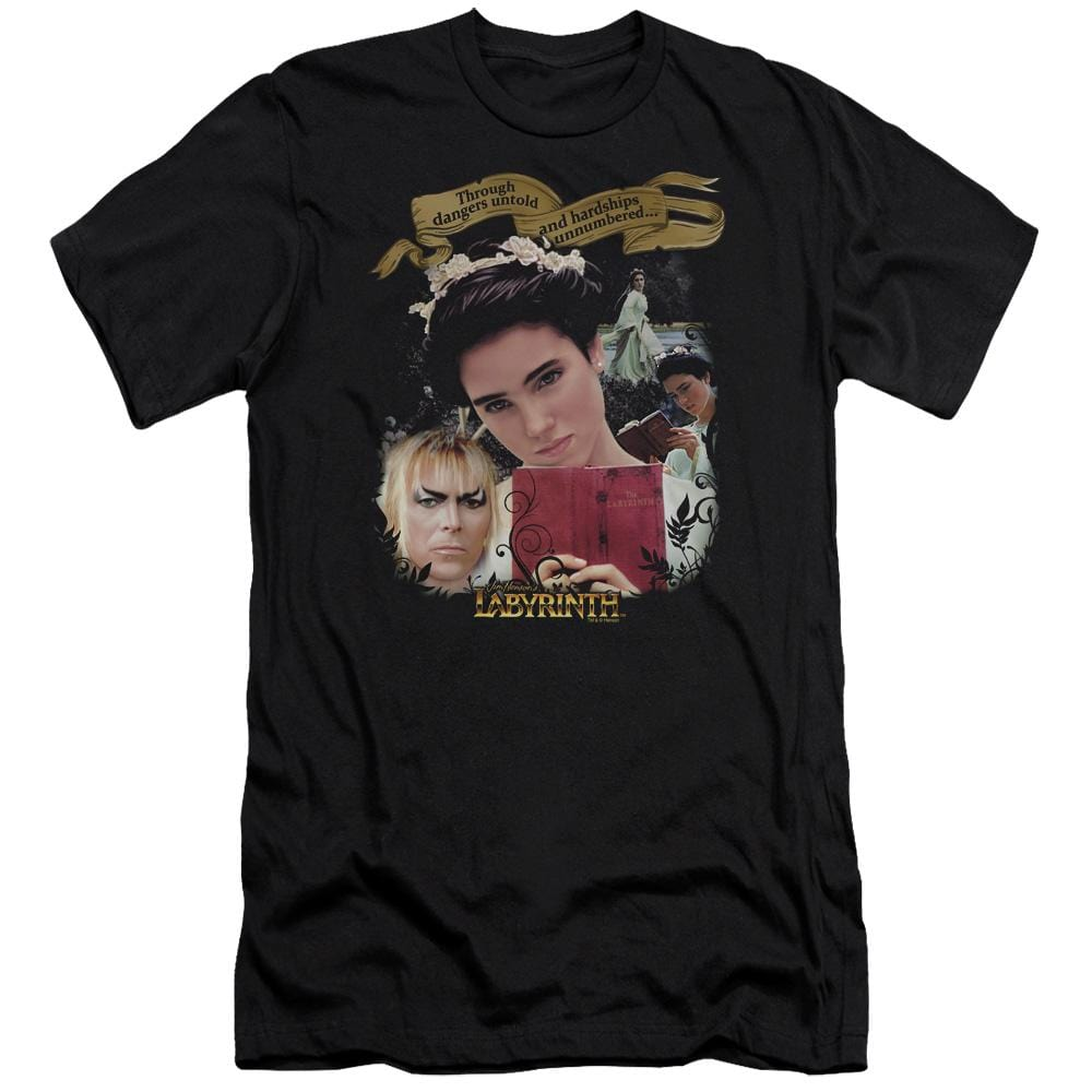 Labyrinth Dangers Untold Premium Adult Slim Fit T-Shirt