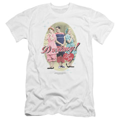 I Love Lucy Dreamy! Premium Adult Slim Fit T-Shirt