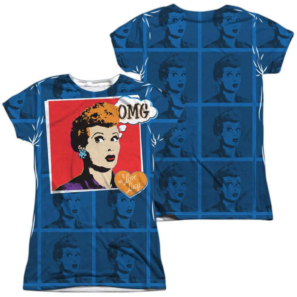 Lucy omg junior all over print 100 poly t shirt sons for Omg i print shirts