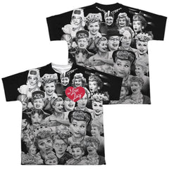 Lucy - Faces Youth All Over Print 100% Poly T-Shirt