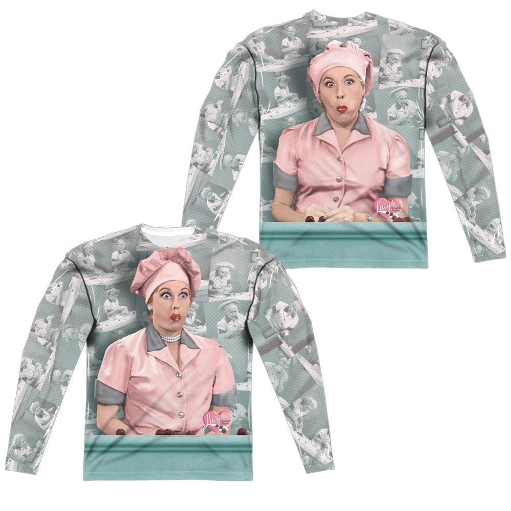 I Love Lucy - Chocolate Belt Adult Long Sleeve T-Shirt