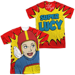 I Love Lucy - Super Lucy Adult All Over Print 100% Poly T-Shirt