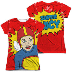 I Love Lucy - Super Lucy Junior All Over Print 100% Poly T-Shirt