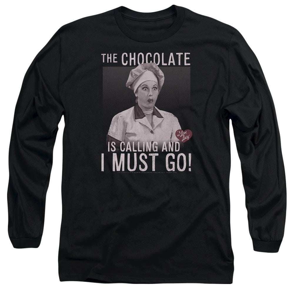I Love Lucy - Chocolate Calling Adult Long Sleeve T-Shirt