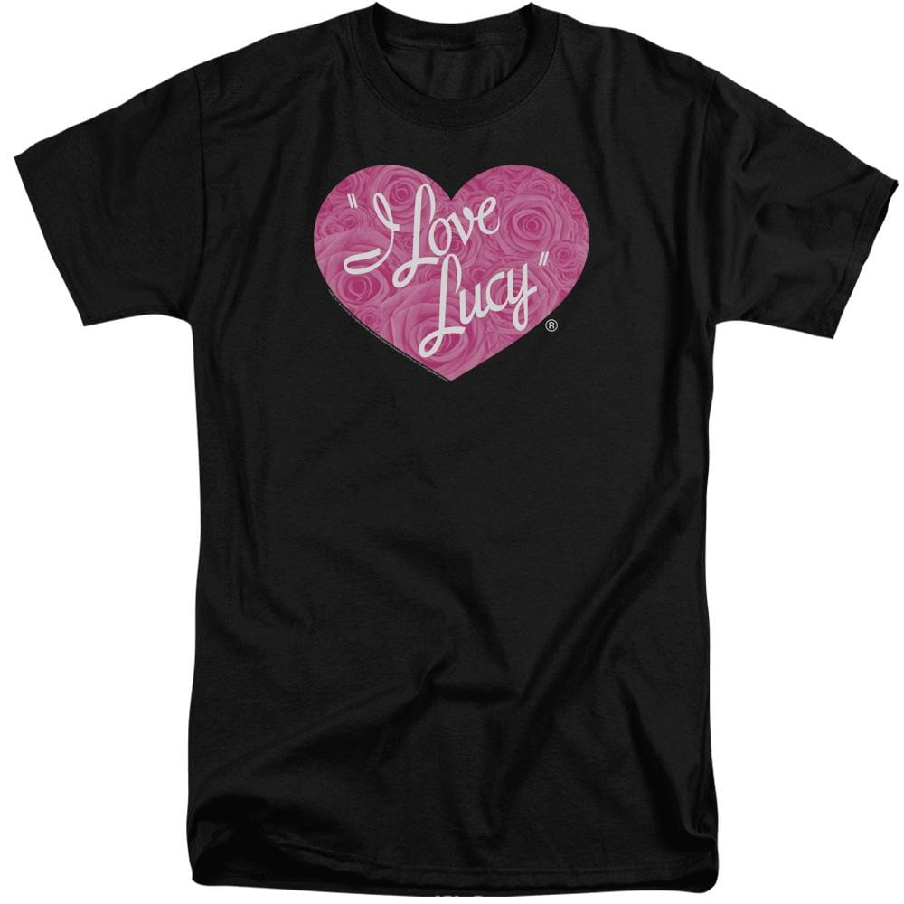 I Love Lucy - Floral Logo Adult Tall Fit T-Shirt