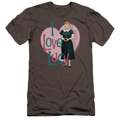 I Love Lucy Heart You Premium Adult Slim Fit T-Shirt
