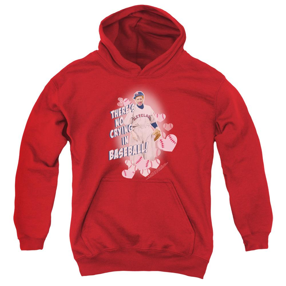 I Love Lucy No Crying In Baseball Youth Hoodie (Ages 8-12)