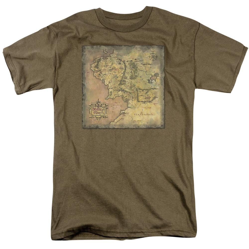 Lor Middle Earth Map Adult Regular Fit T-Shirt