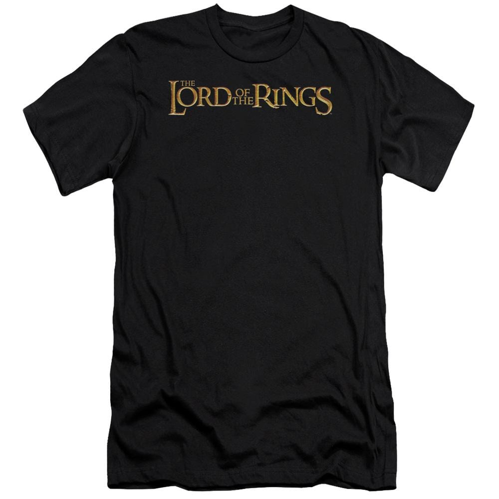 Lor Lotr Logo Premium Adult Slim Fit T-Shirt
