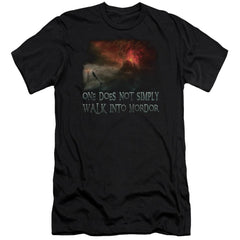 Lor Walk In Mordor Premium Adult Slim Fit T-Shirt