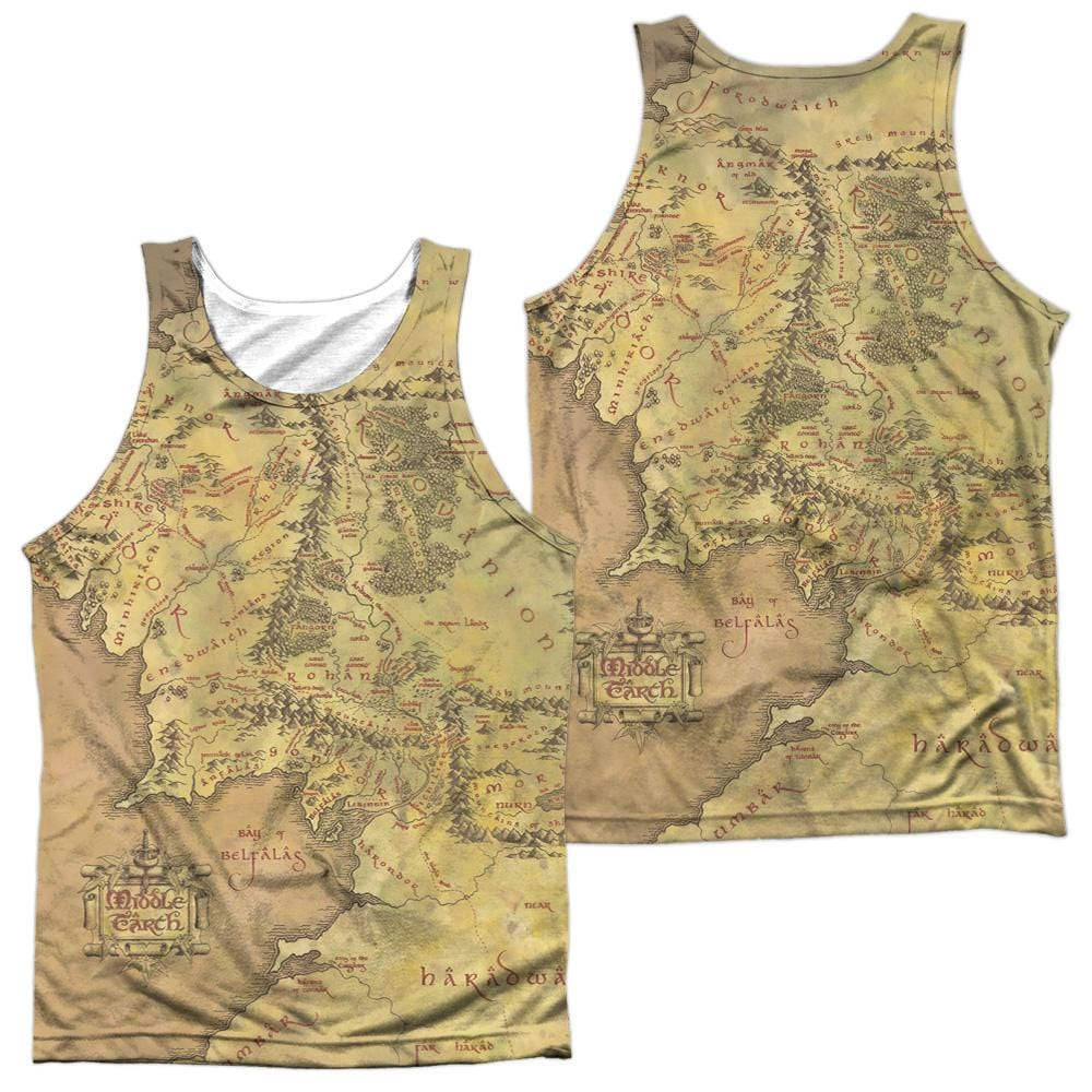Lor - Middle Earth Map Adult Tank Top