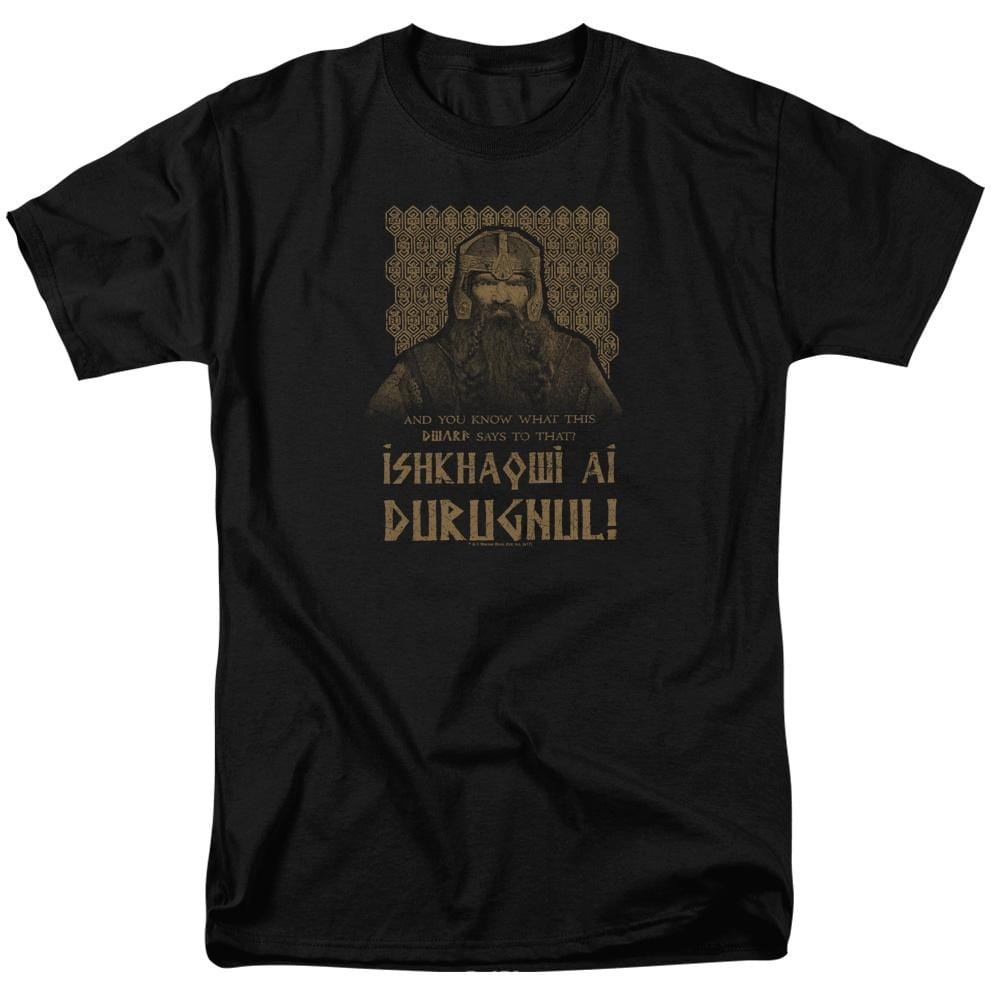 Lord Of The Rings Ishkhaqwi Durugnul Adult Regular Fit T-Shirt
