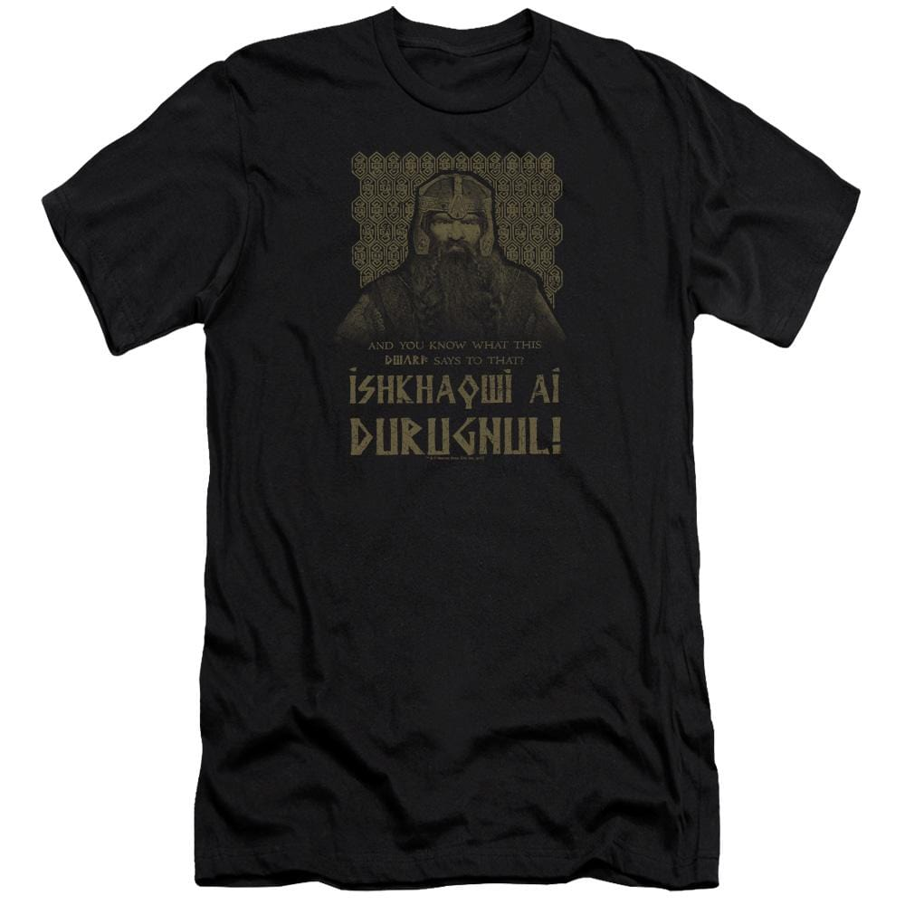 Lord Of The Rings Ishkhaqwi Durugnul Adult Slim Fit T-Shirt