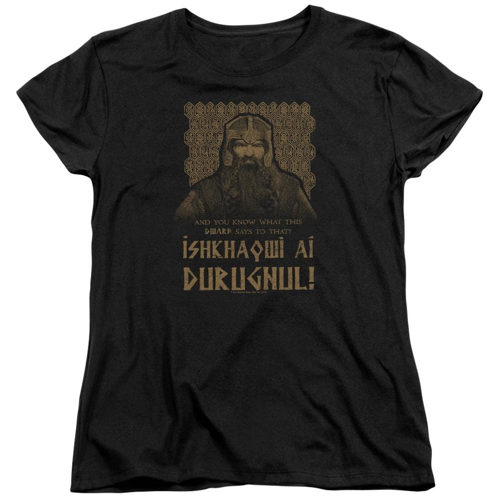 Lord Of The Rings Ishkhaqwi Durugnul Women's T-Shirt