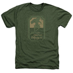 Lord Of The Rings Green Dragon Tavern Adult Regular Fit Heather T-Shirt