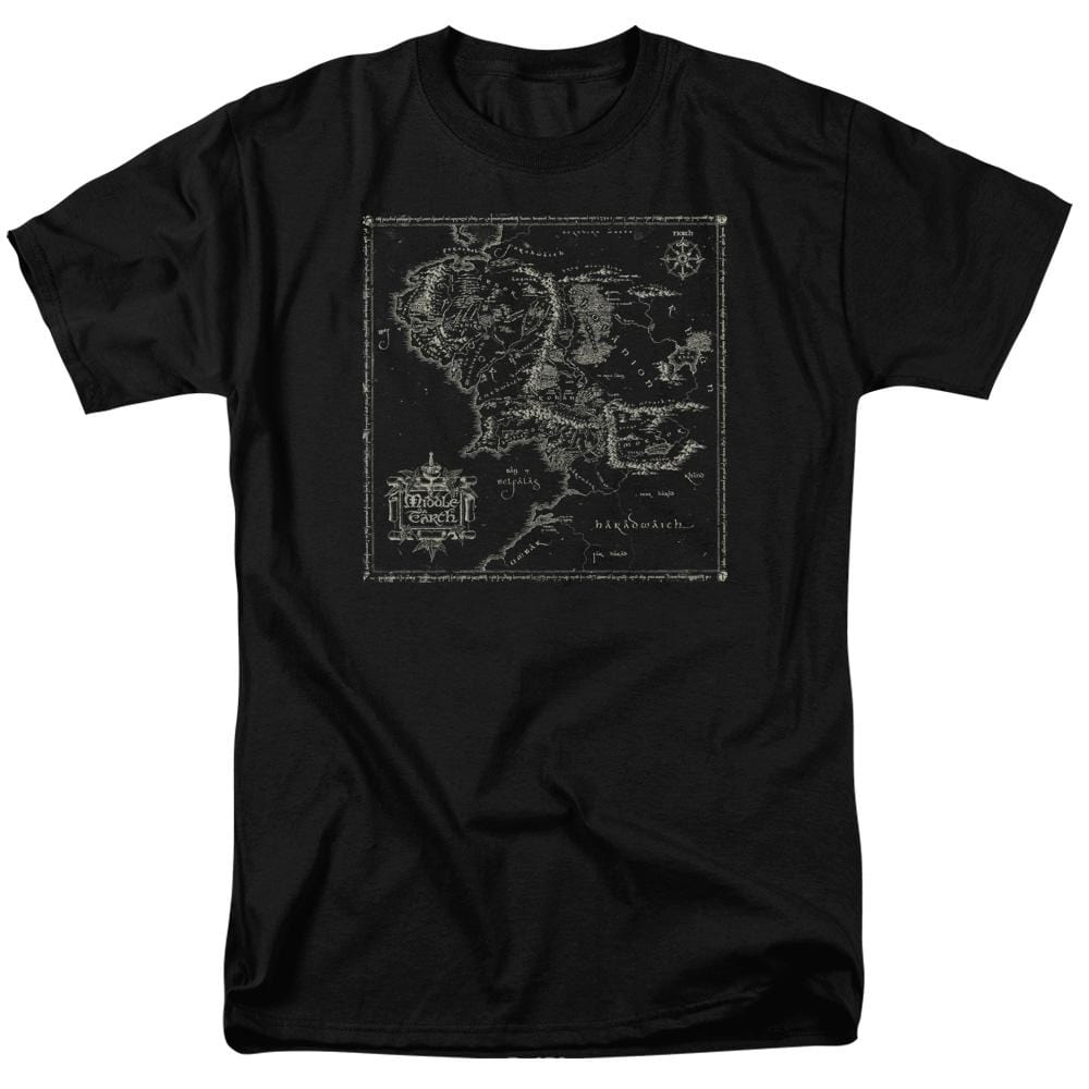 Lord Of The Rings Map Of Me Adult Regular Fit T-Shirt