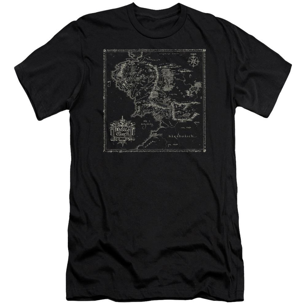Lord Of The Rings Map Of Me Premium Adult Slim Fit T-Shirt