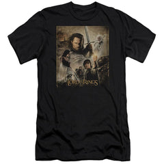Lor Rotk Poster Premium Adult Slim Fit T-Shirt