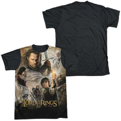 Lor - King Poster Adult Black Back 100% Poly T-Shirt