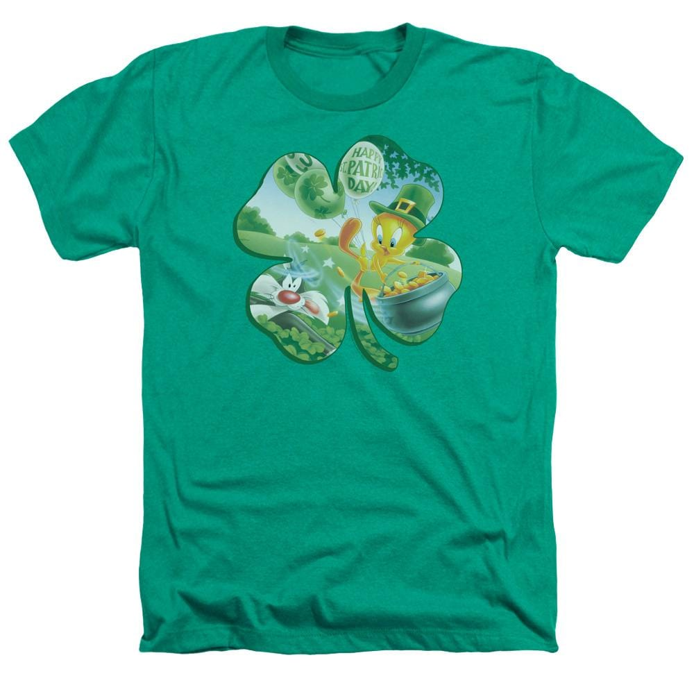 Looney Tunes Tweety Shamrock Adult Regular Fit Heather T-Shirt