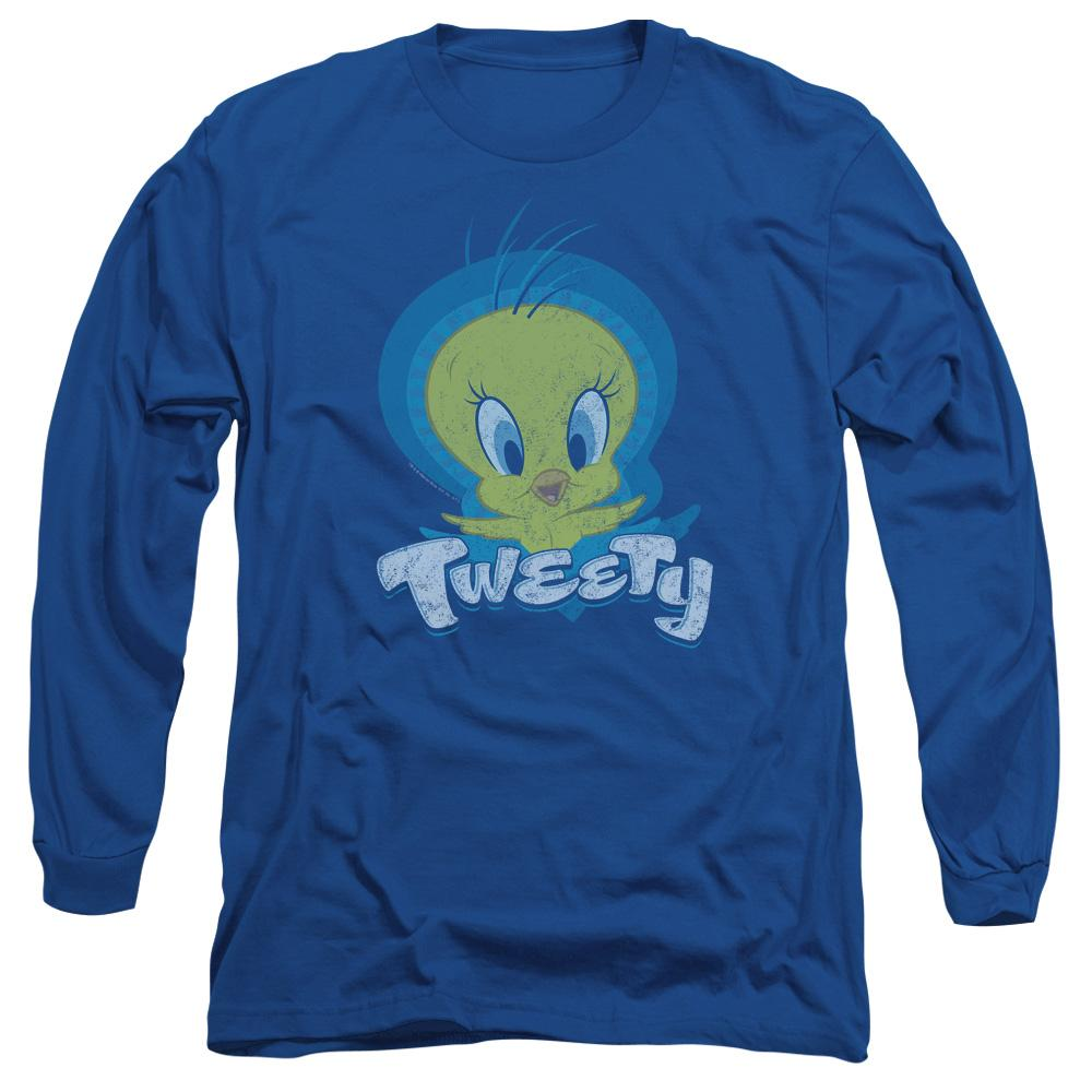 Looney Tunes Tweety Swirl Adult Long Sleeve T-Shirt