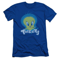 Looney Tunes Tweety Swirl Adult Slim Fit T-Shirt