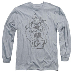 Looney Tunes Faded Taz Adult Long Sleeve T-Shirt