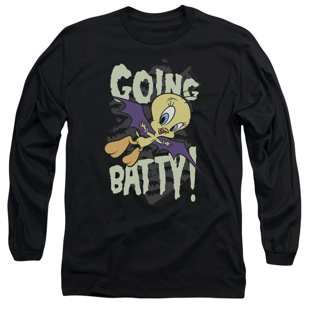 Looney Tunes Going Batty Adult Long Sleeve T-Shirt