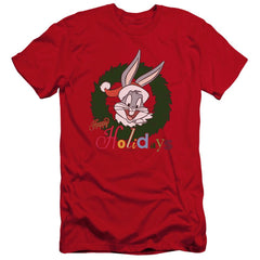Looney Tunes Holiday Bunny Premium Adult Slim Fit T-Shirt