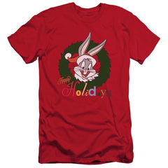 Looney Tunes Holiday Bunny Adult Slim Fit T-Shirt