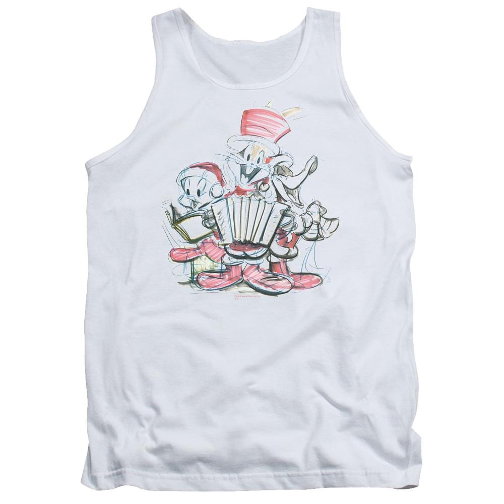 Looney Tunes Holiday Sketch Adult Tank Top