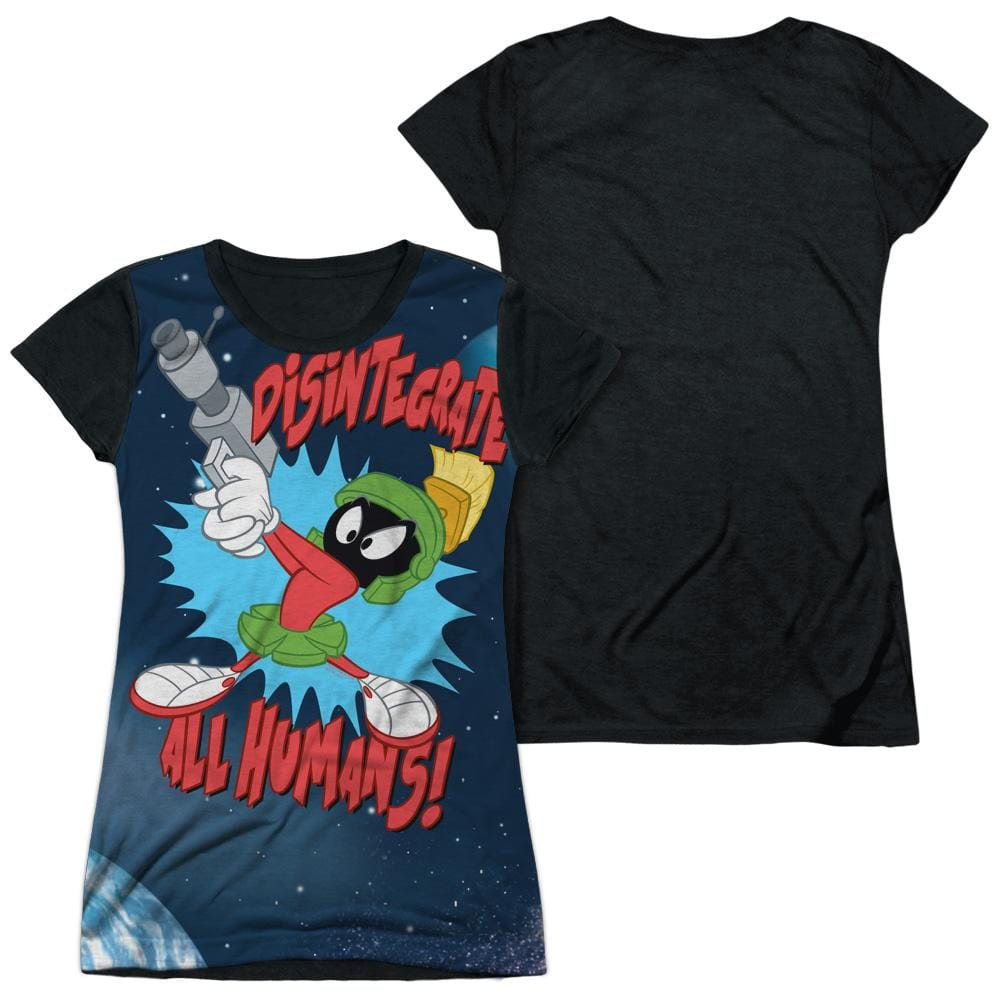 Looney Tunes Disintegrate Junior Black Back 100% Poly T-Shirt